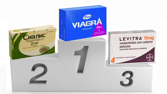 Виагра, Сиалис и Левитра - лучшие препараты для потенции